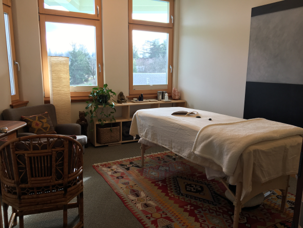 Alchemical acupuncture treatment room section..